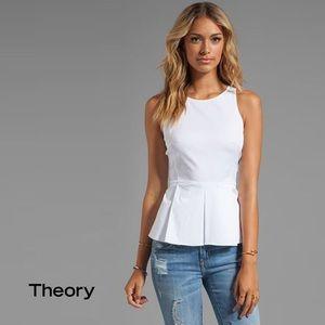 Theory Fif T white peplum top